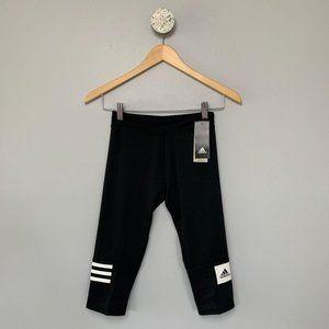 NWT Adidas Blocked Branded Climalite Capri Sz M
